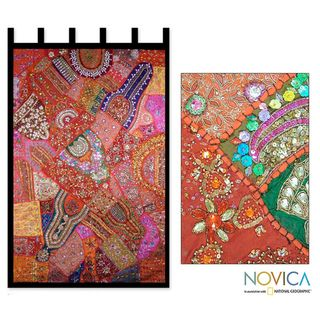 Handcrafted Cotton Autumn Splendor Wall Hanging (India)