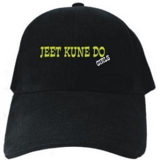 Jeet Kune Do GIRLS Black Baseball Cap Unisex Clothing