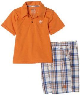 Timberland Boys 2 7 2Pc Set Orange,Burnt Orange,4T