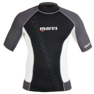 Mares Rash Guard Top   Mens Short Sleeve for Scuba
