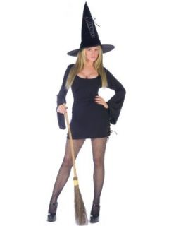 Classic Witch Halloween Costume Long Sleeve Black Dress