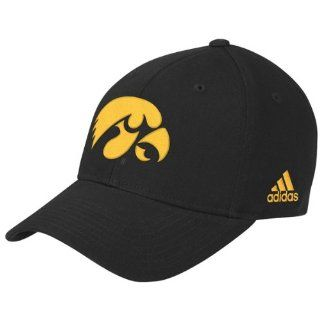 Iowa Hawkeyes adidas Black Basic Logo Structured