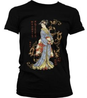 Japanese Geisha Juniors Tattoo T shirt, Old School Tattoo