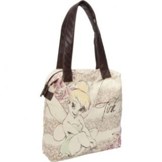 Disney WDTB0255 Tote,Brown/Canvas/Pink/Gold/Green,One Size