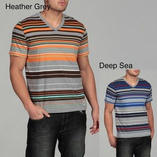 Generra Mens Striped V neck Tee