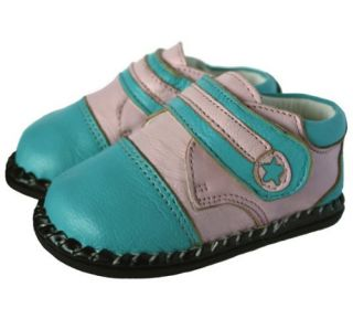 Infant Toddler Shoes for Wide Feet, Katy   Bright Blue and Pink: Shoes