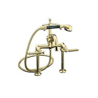 Kohler K 110 4 PB Vibrant Polished Brass Antique Bath Faucet With