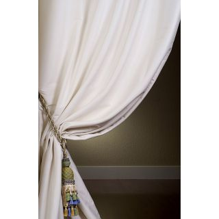 Signature Oyster Cotton Silk 108 inch Curtain Panel