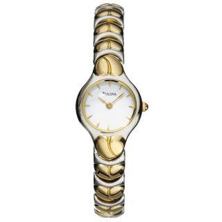 Bulova Womens Dress Two tone Stainless Steel Quartz Watch