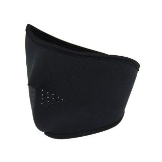 Black Neoprene Ski Face Mask Half Cover