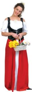 Adult Womens Bavarian Dress Costume (Large) Clothing