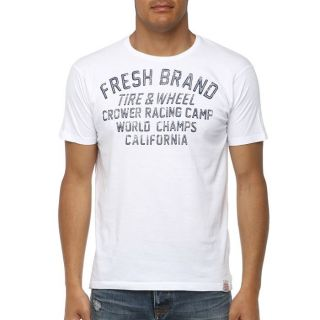 FRESH BRAND T Shirt Homme Blanc   Achat / Vente T SHIRT FRESH BRAND T