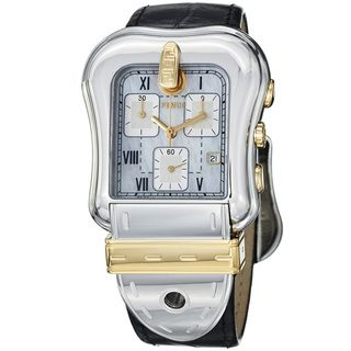 Fendi Womens B. Fendi White Dial Black Strap Chronograph Watch