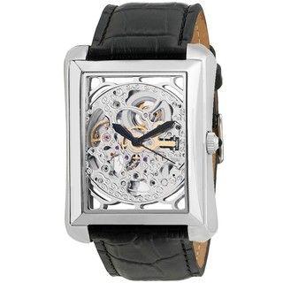 Akribos XXIV Mens Skeleton Automatic Strap Watch