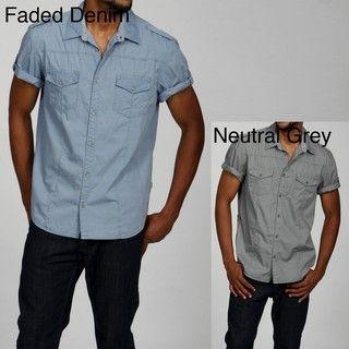 Calvin Klein Mens Fatigue Woven Shirt