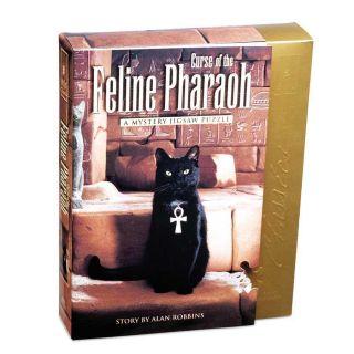 The Curse of the Feline Pharaoh Mystery 1000 piece Jigsaw Puzzle