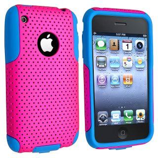 Blue Skin/ Hot Pink Mesh Hybrid Case for Apple iPhone 3G/ 3GS