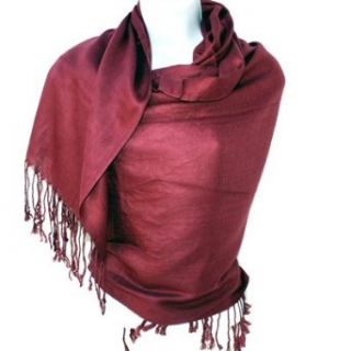 Nepal Solid Two Ply Warm Soft Pashmina Scarf Shawl Wrap