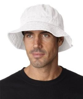 Adams Vacationer Crushable Bucket Hat. VA101   White   XL