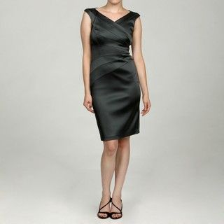 Jax Ladies Charcoal Sunburst Detail Dress