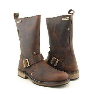 Davidson Jayden Engineer Motorcycle Boots Mens (12, Brown): Shoes