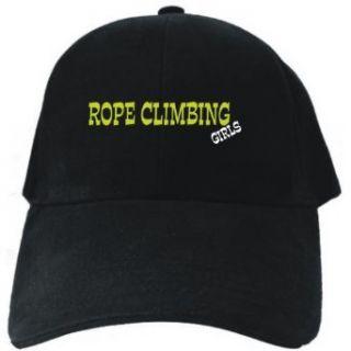 Rope Climbing GIRLS Black Baseball Cap Unisex Clothing
