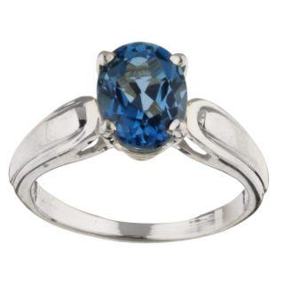 10k White Gold London Blue Topaz Ring