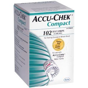 ACCU CHEK COMPACT 6 DRUMS Pack of 102 by ROCHE DIAGNOSTICS