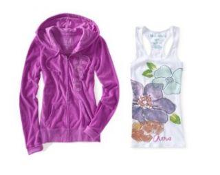 Glitter Jersey Tank Top (Medium, Neon Purple 537/Bleach 102) Clothing