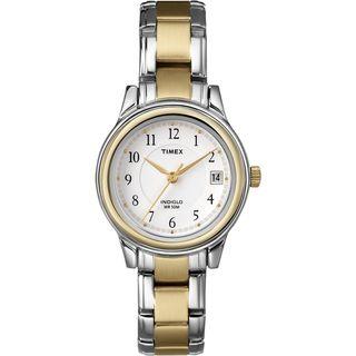 Timex Womens Elevated Classics Dress Two tone Steel Bracelet Watch