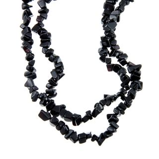 Angelina DAndrea Onyx Nugget 54 inch Endless Necklace