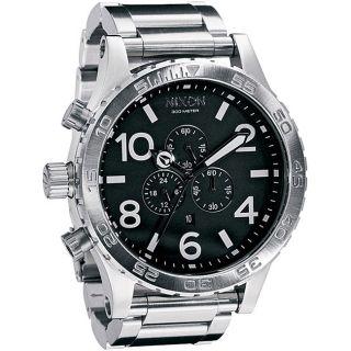 Nixon 51 30 Mens Black Dial Stainless Steel Watch
