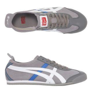 Modèle Mexico 66 SU. Coloris  gris, blanc et bleu. Baskets ONITSUKA