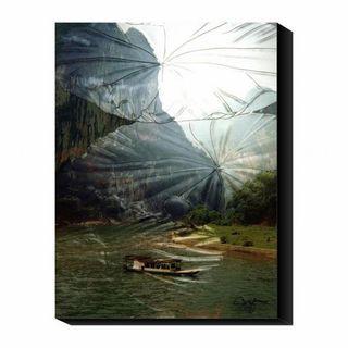 Suzanne Silk Li River Journey Canvas Art