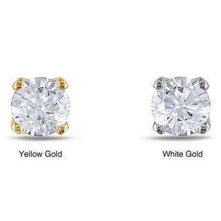 Miadora 14k Gold Single Diamond Accent Earring