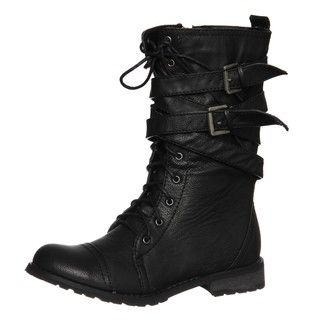 Groove Womens Canyon Black Belted Boots