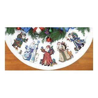 Gold Collection St. Nicholas Tree Skirt Counted Cross
