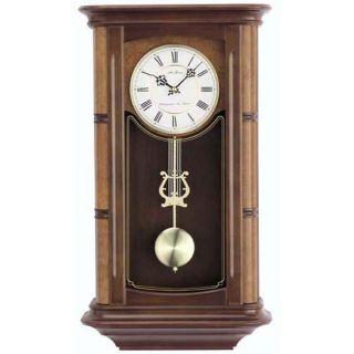 Seth Thomas Randolf Walnut Wood Chime Pendulum Wall Clock