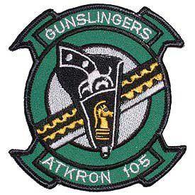 United States Navy Collection   Gunslingers VA 105 Applique Clothing