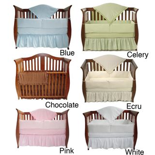 American Baby Company Heavenly Soft Minky Dot 4 piece Crib Set