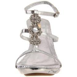 Celeste Womens Gusi 01 Silver T Strap Sandals