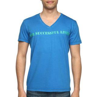 DIESEL T Shirt Strary Homme Bleu royal et vert   Achat / Vente T SHIRT
