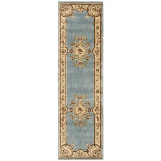 Aubusson Collection Light Blue Runner Rug (23 x 8) Today $83.99