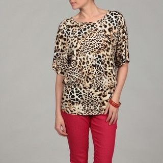 Cable & Gauge Womens Animal inspired Wide Banded Top