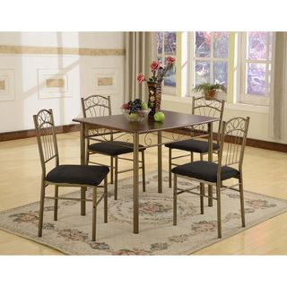 Azura 5 piece Brass Dining Set