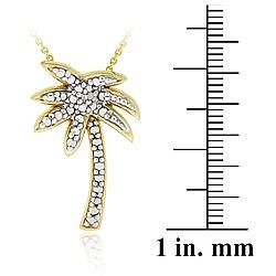 DB Designs 18k Gold over Sterling Silver Diamond Accent Palm Tree