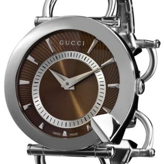 Gucci Womens Chiodo Stainless Steel Brown Face Watch
