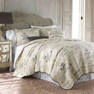 Histoire Grey 5 piece Queen size Quilt Set