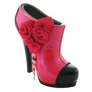 Glossy Red Rose Bootie Brush/ Cellphone Holder