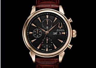Bulova Accutron Mens Rose Gold Gemini Chronograph Watch 64C104